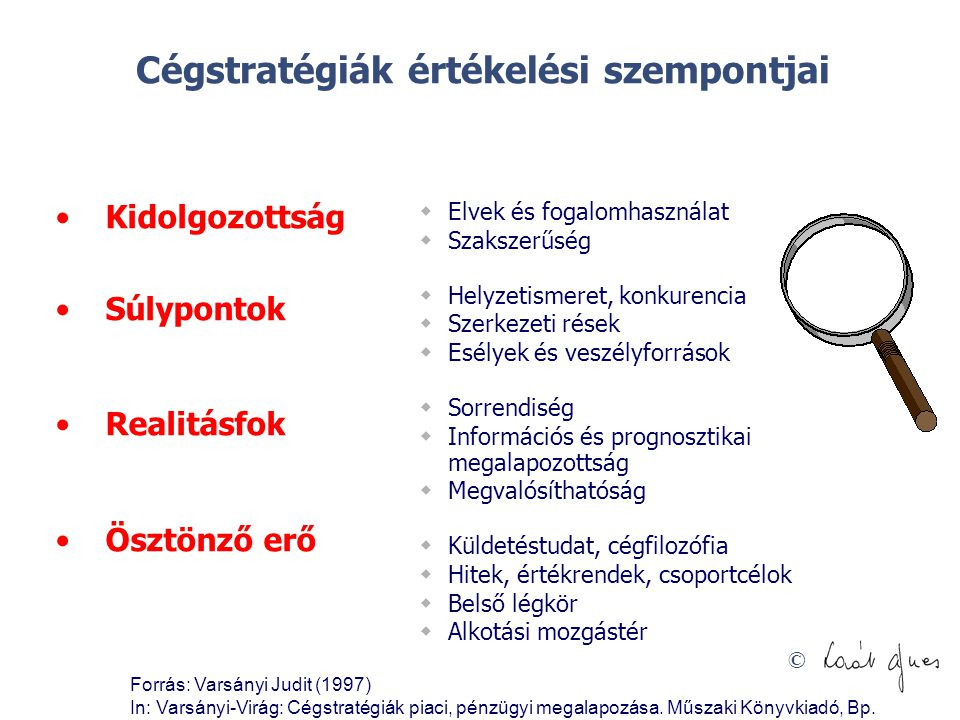 Cégstratégiák értékelési szempontjai