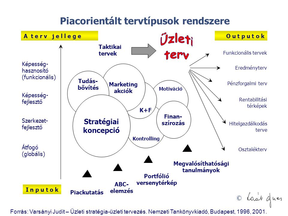 Piacorientált tervtípusok rendszere