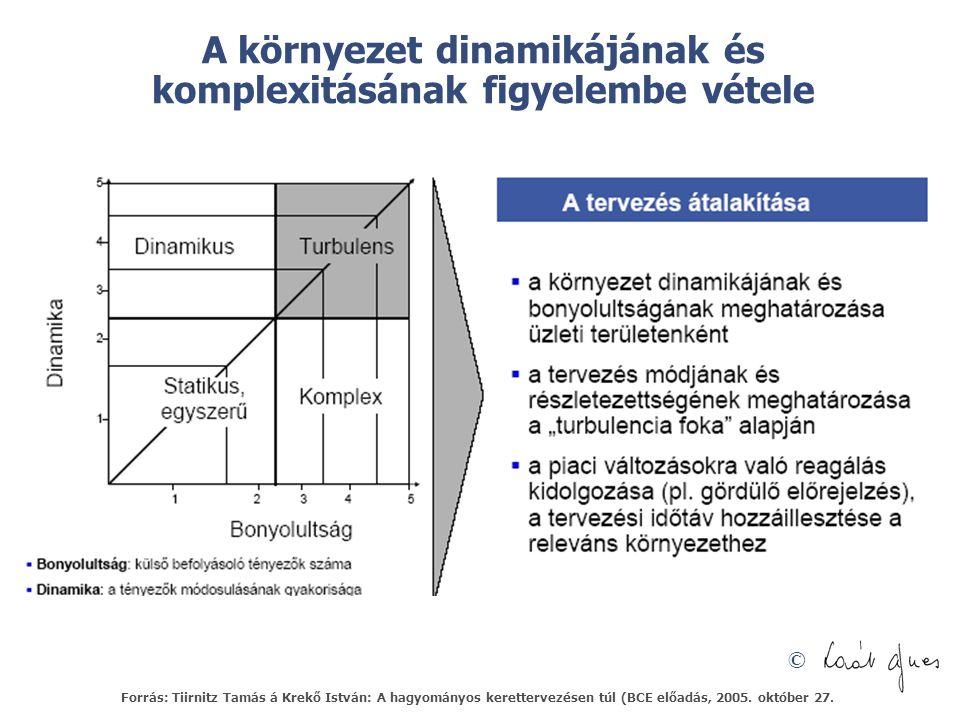 A környezet dinamikájának és komplexitásának figyelembe vétele