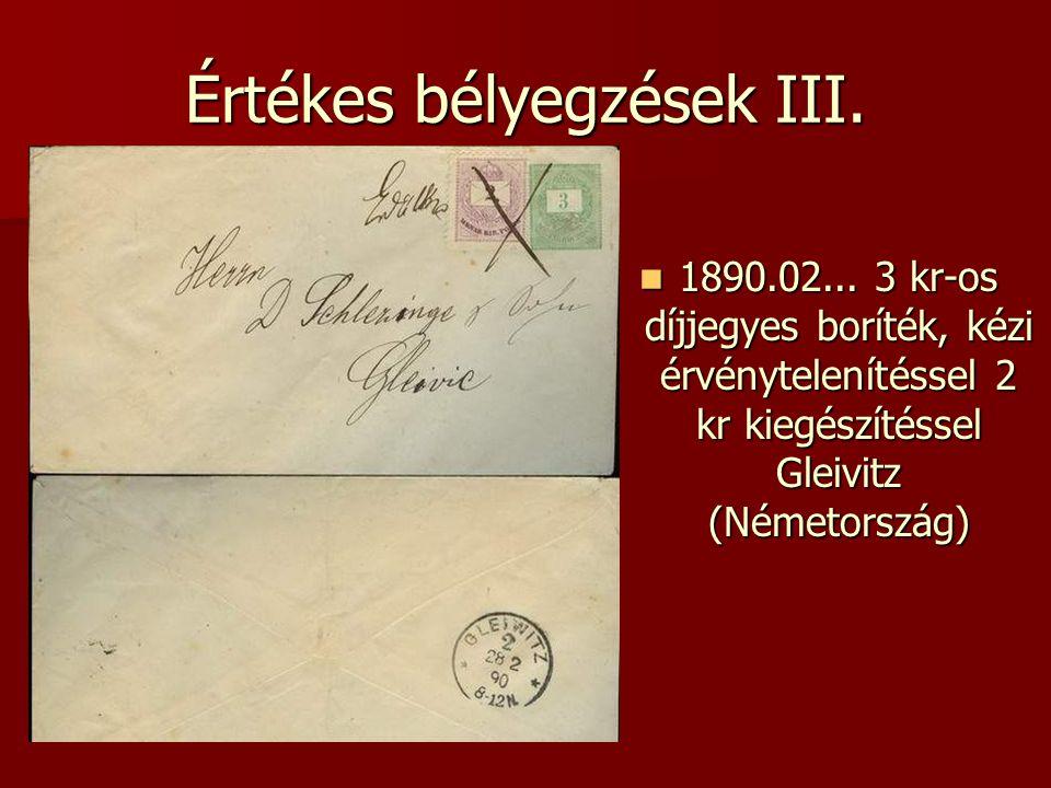 Értékes bélyegzések III.