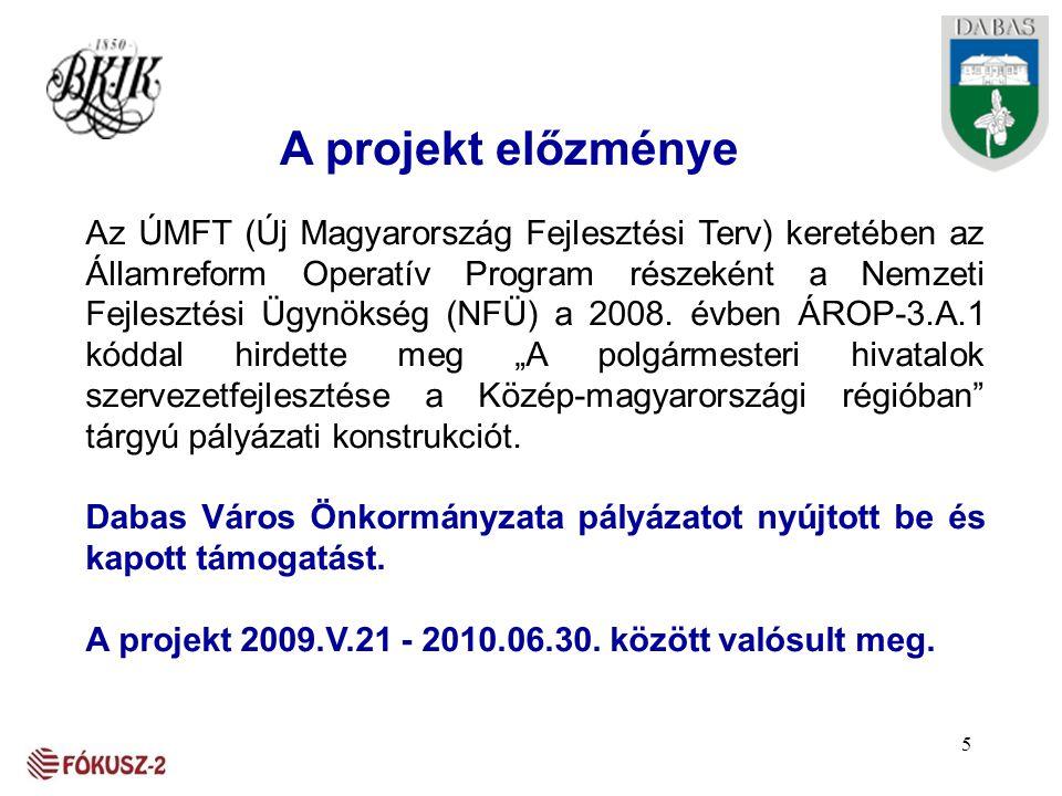 A projekt előzménye