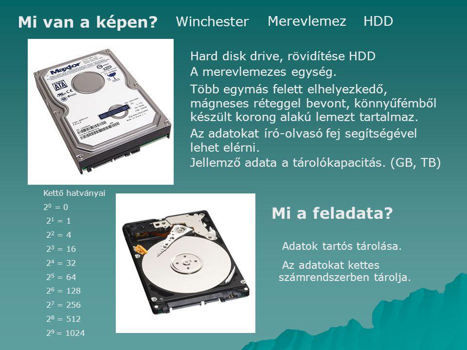 Mi van a képen Mi a feladata Winchester Merevlemez HDD