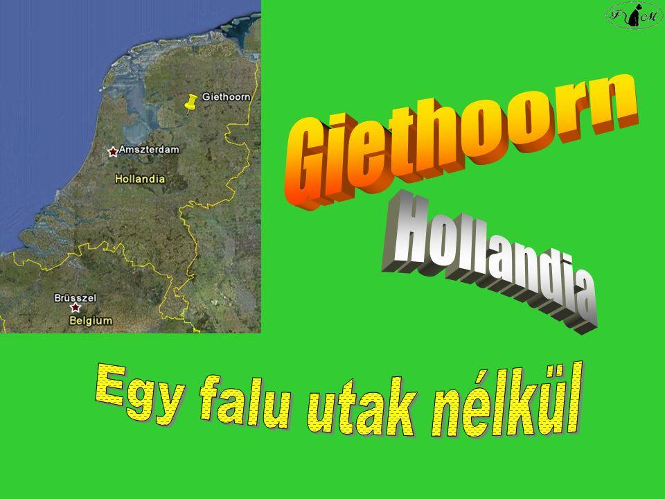 Giethoorn Hollandia Egy falu utak nélkül