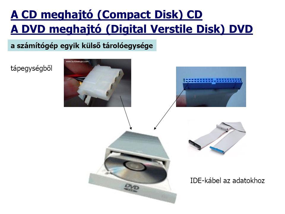 A CD meghajtó (Compact Disk) CD