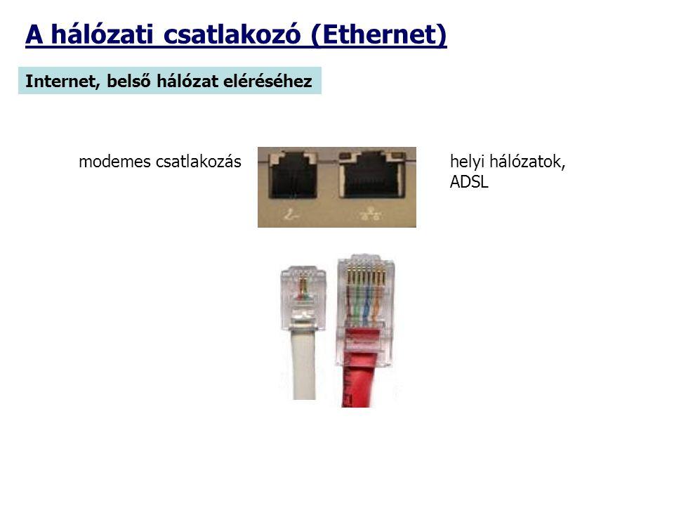 A hálózati csatlakozó (Ethernet)