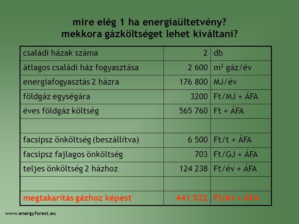 mire elég 1 ha energiaültetvény mekkora gázköltséget lehet kiváltani