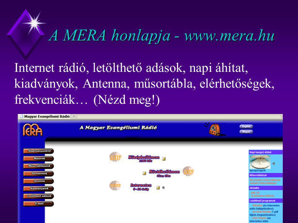 A MERA honlapja - www.mera.hu