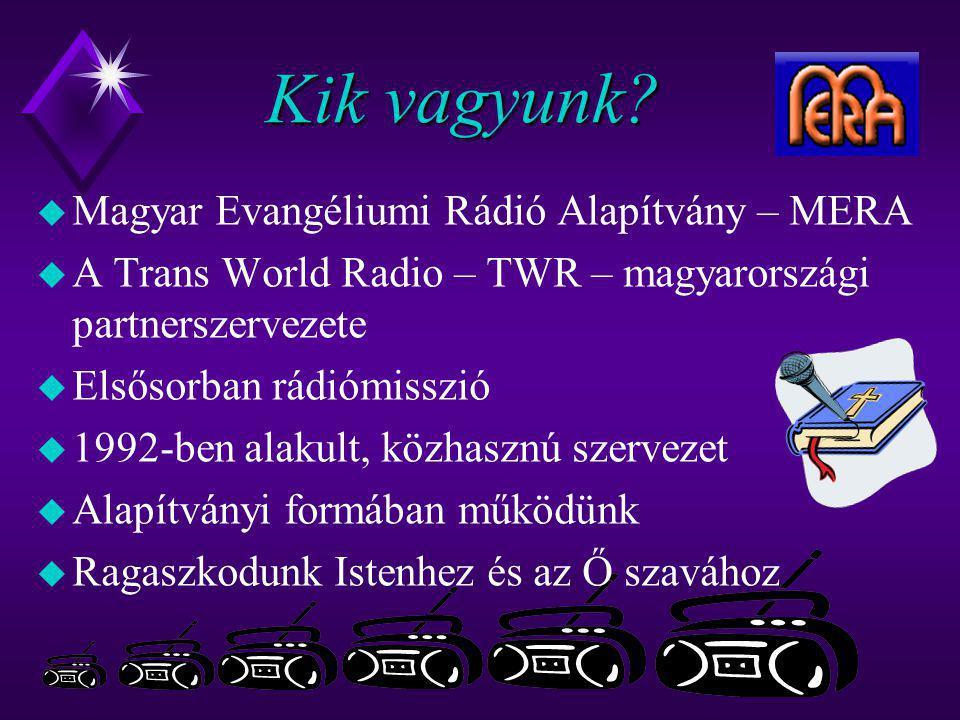 Kik vagyunk Magyar Evangéliumi Rádió Alapítvány – MERA