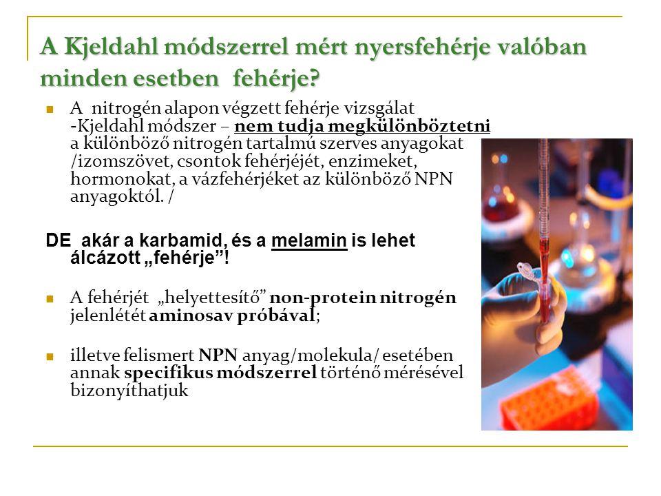A Kjeldahl módszerrel mért nyersfehérje valóban minden esetben fehérje