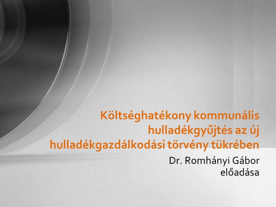 Dr. Romhányi Gábor előadása