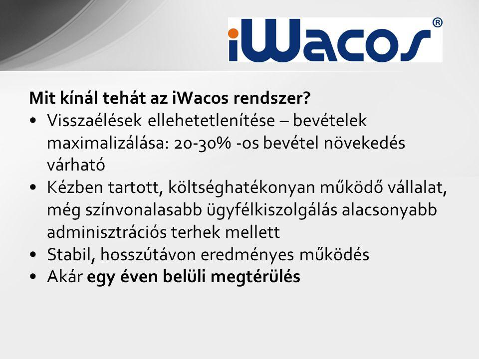 Mit kínál tehát az iWacos rendszer