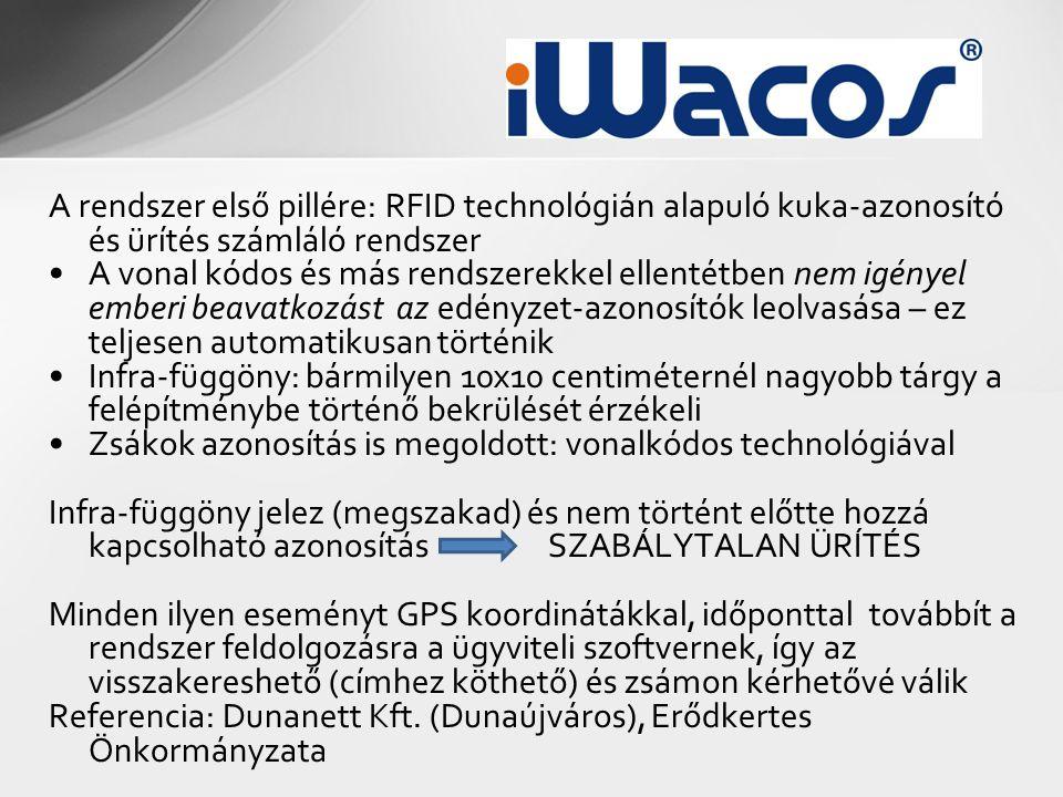 A rendszer első pillére: RFID technológián alapuló kuka-azonosító és ürítés számláló rendszer