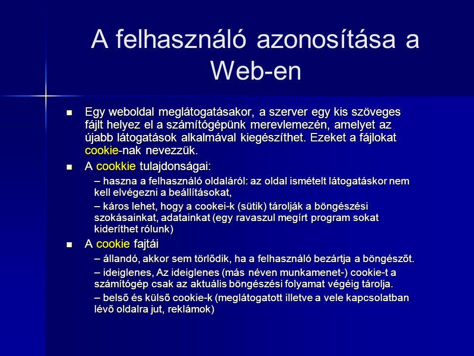A felhasználó azonosítása a Web-en