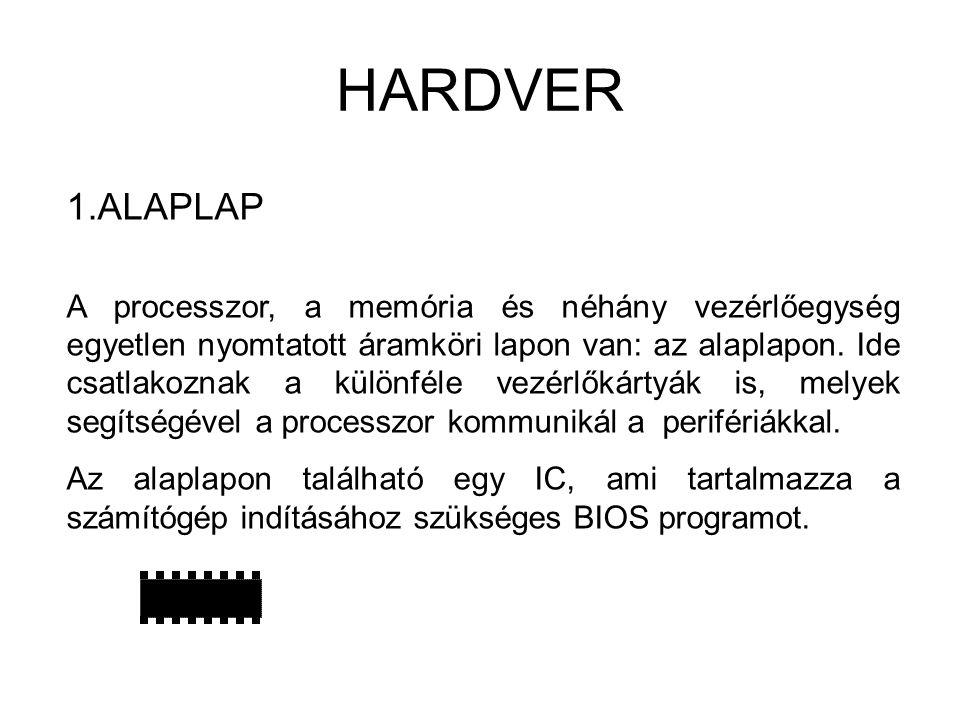 HARDVER ALAPLAP.