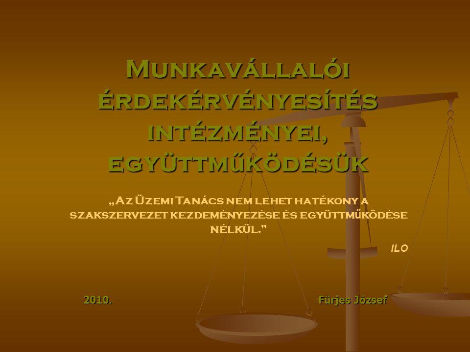 Munkavállalói érdekérvényesítés intézményei, együttműködésük