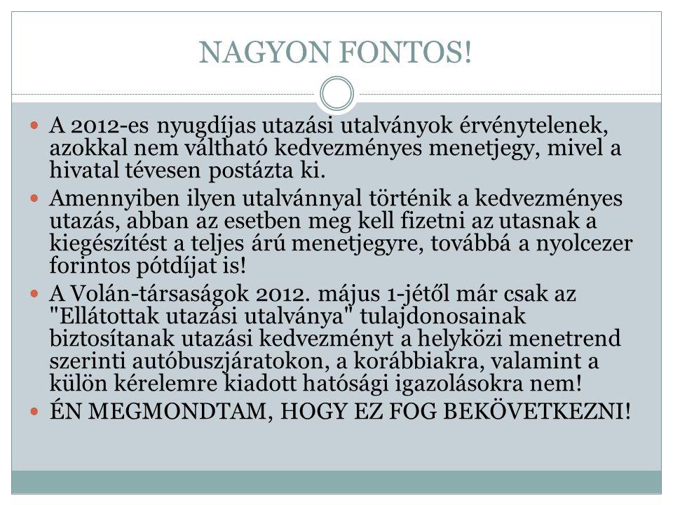 NAGYON FONTOS!