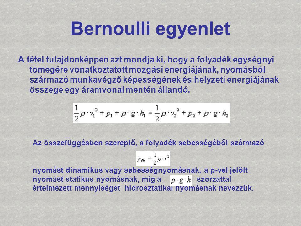 Bernoulli egyenlet