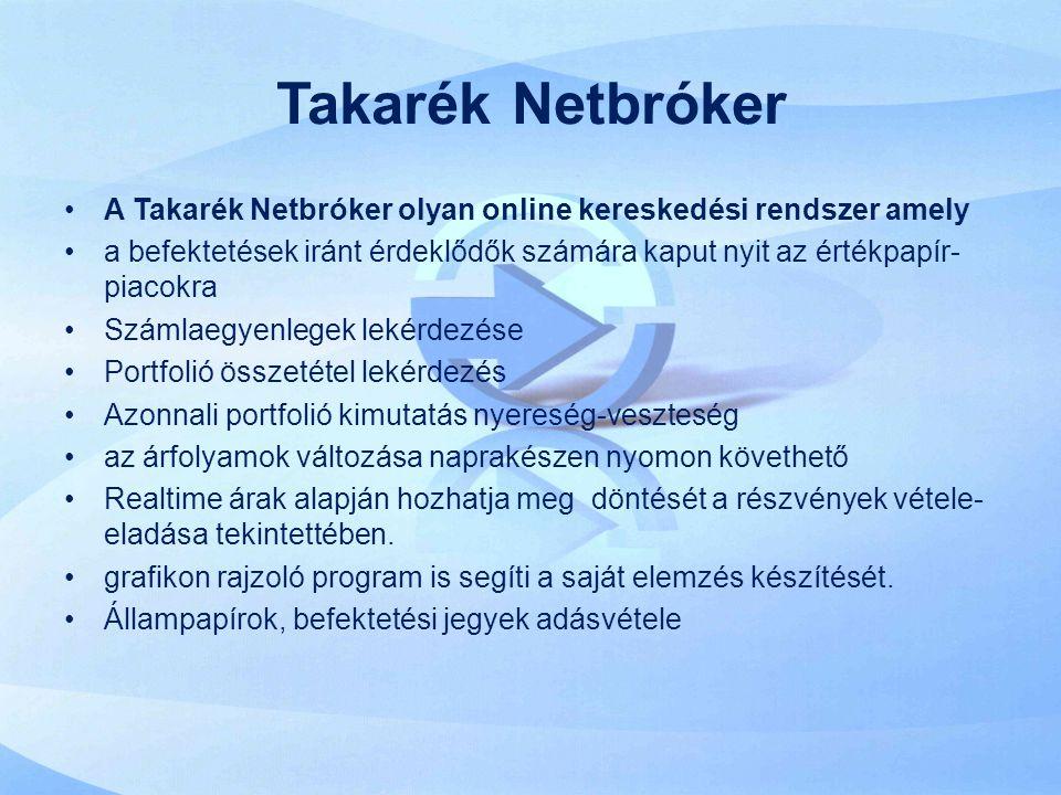 Takarék Netbróker A Takarék Netbróker olyan online kereskedési rendszer amely.