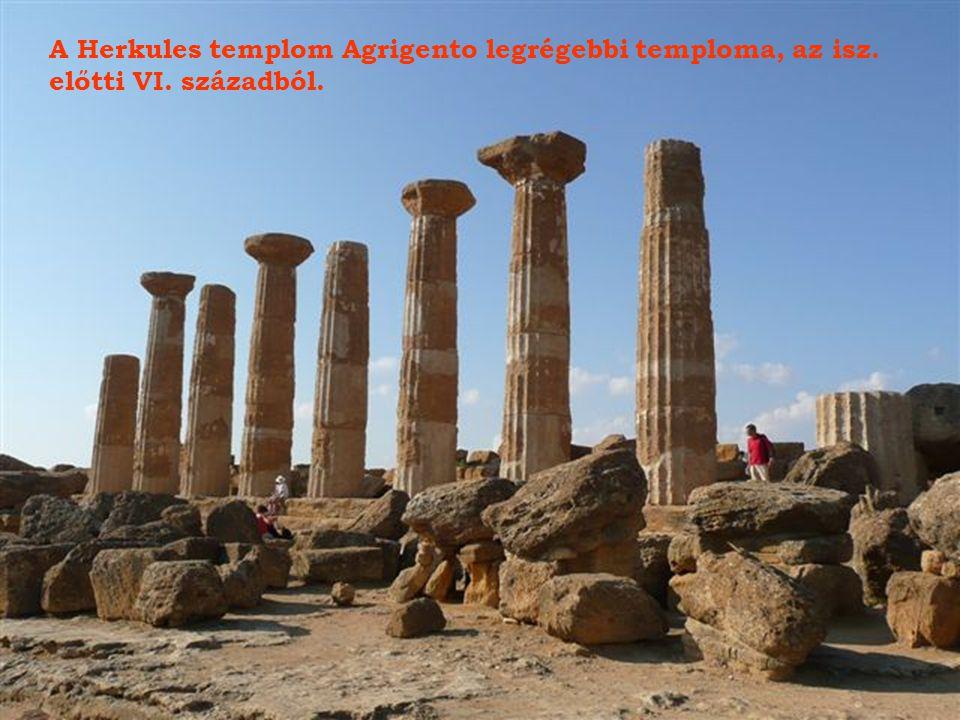 A Herkules templom Agrigento legrégebbi temploma, az isz.