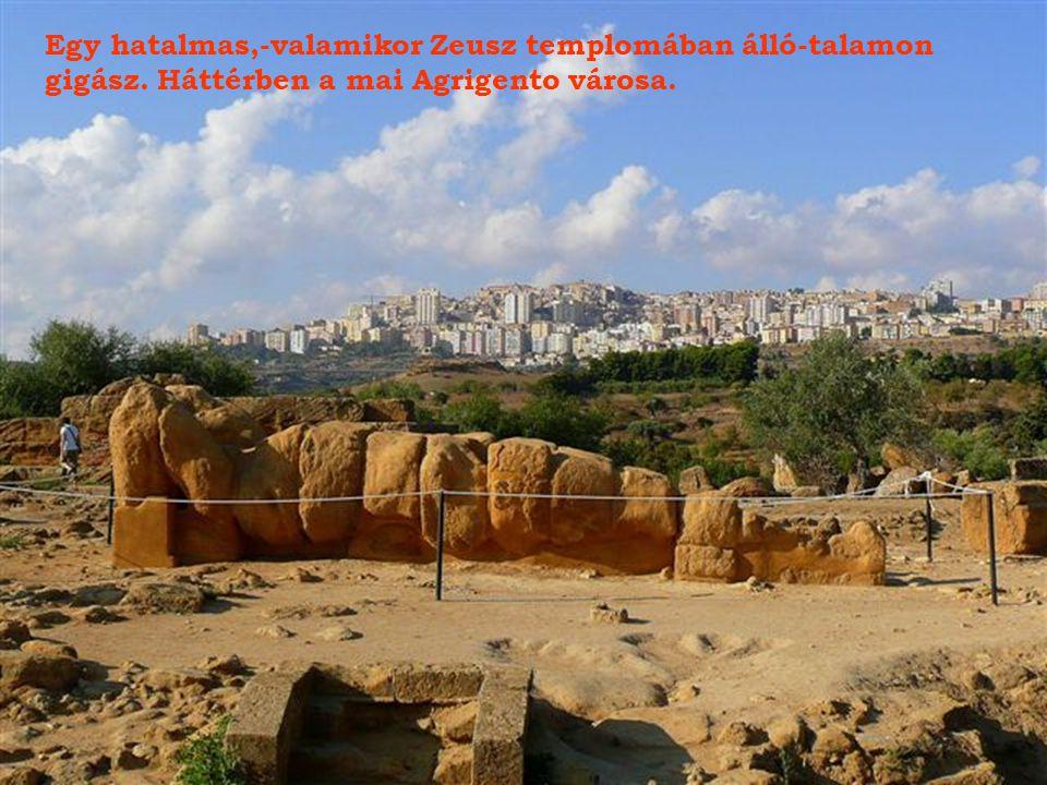 Egy hatalmas,-valamikor Zeusz templomában álló-talamon
