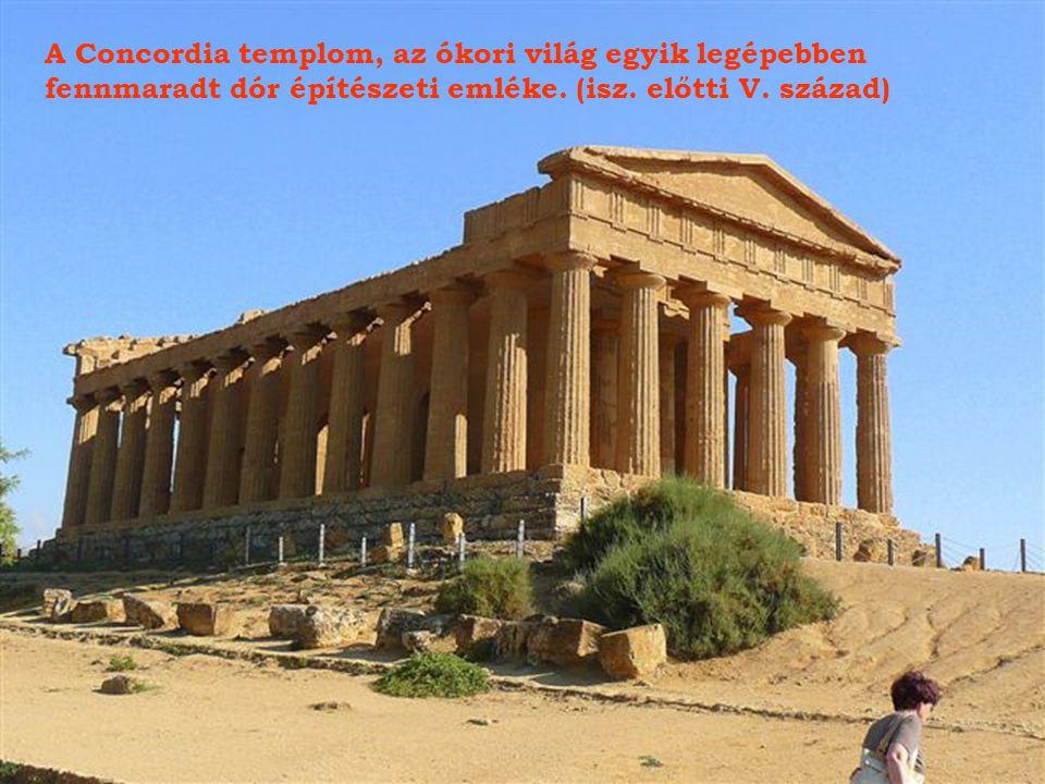 A Concordia templom, az ókori világ egyik legépebben