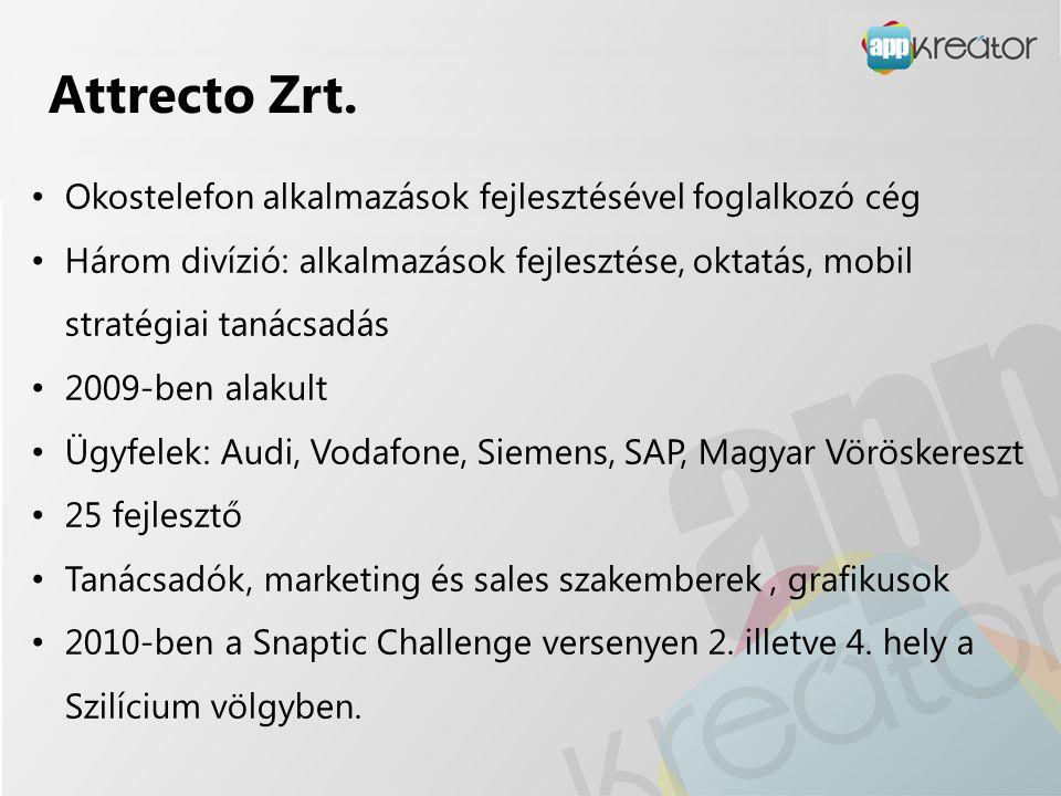 Attrecto Zrt. Okostelefon alkalmazások fejlesztésével foglalkozó cég