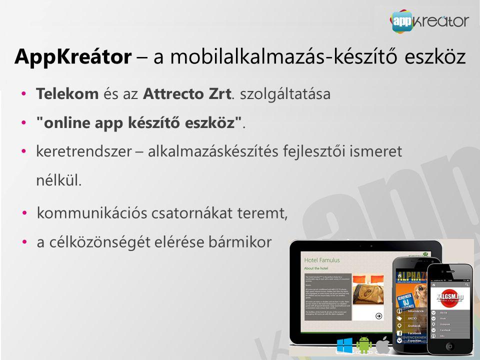 AppKreátor – a mobilalkalmazás-készítő eszköz