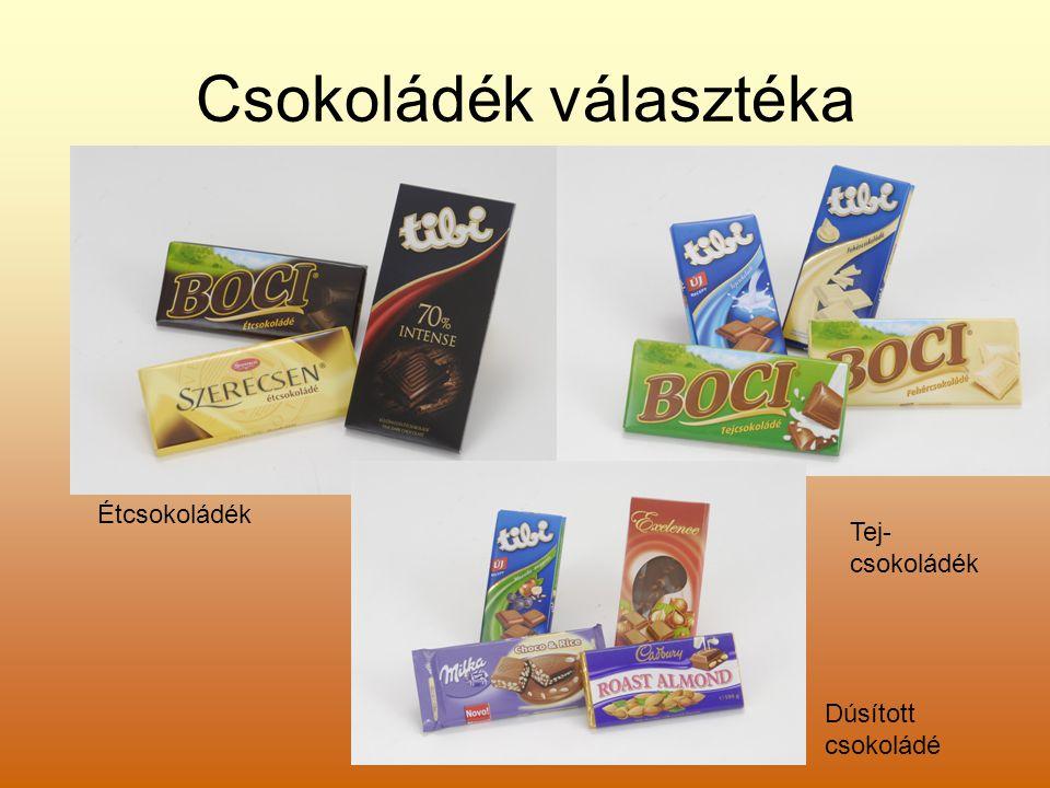 Csokoládék választéka
