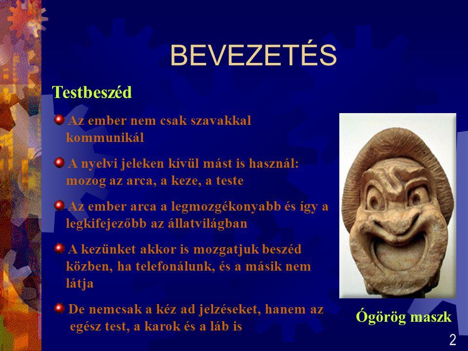 BEVEZETÉS Testbeszéd Ógörög maszk 2