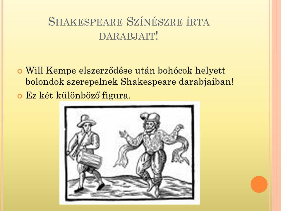 Shakespeare Színészre írta darabjait!