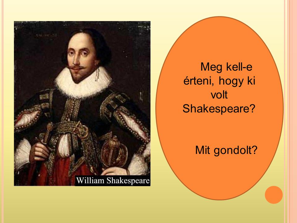 Meg kell-e érteni, hogy ki volt Shakespeare