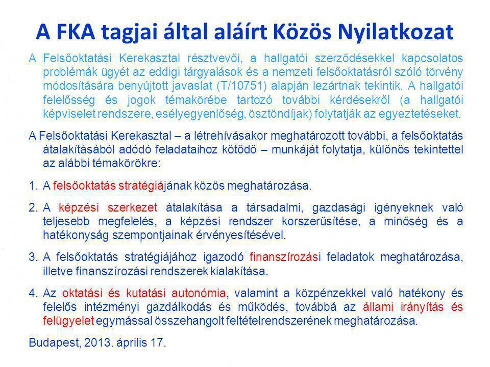A FKA tagjai által aláírt Közös Nyilatkozat