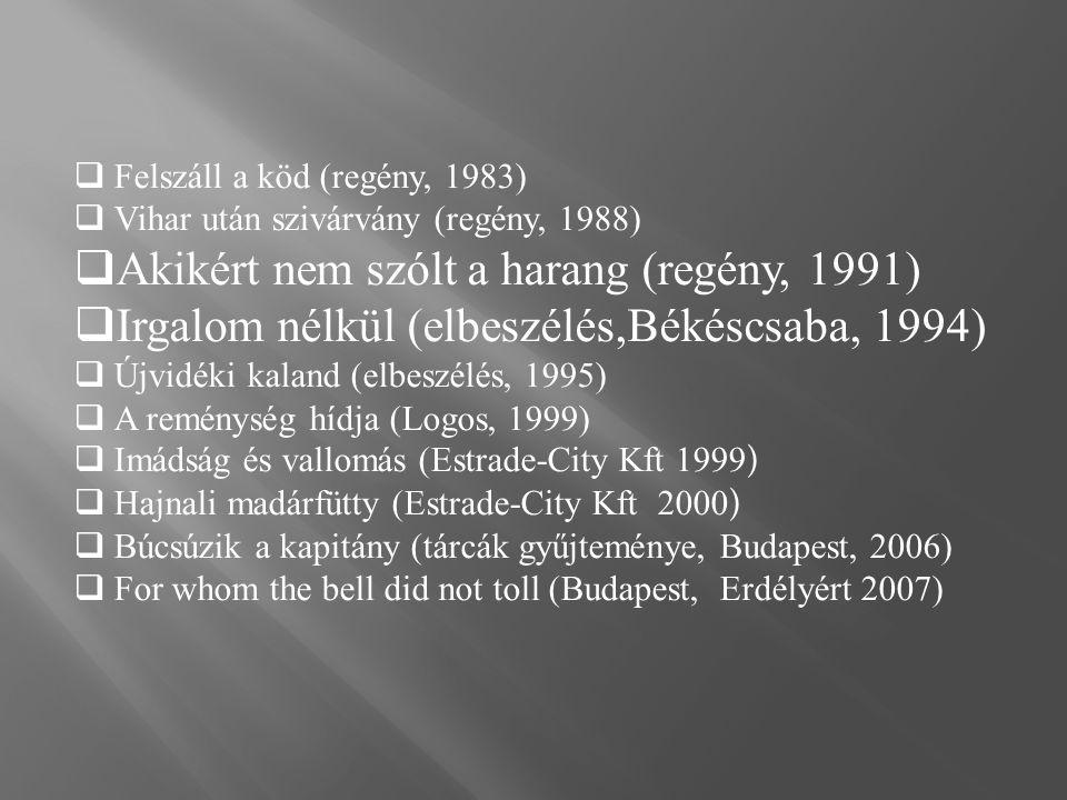 Akikért nem szólt a harang (regény, 1991)