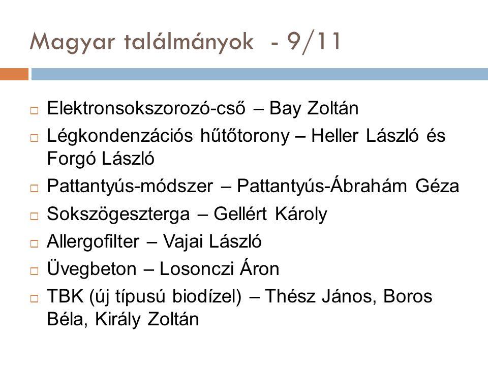Magyar találmányok - 9/11 Elektronsokszorozó-cső – Bay Zoltán
