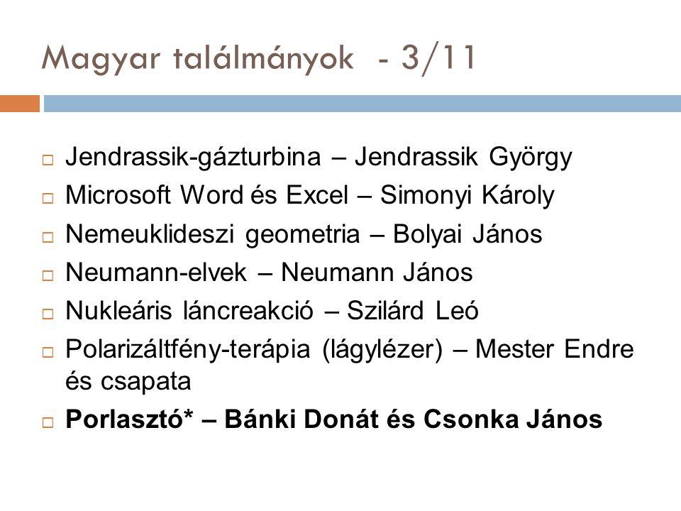 Magyar találmányok - 3/11 Jendrassik-gázturbina – Jendrassik György