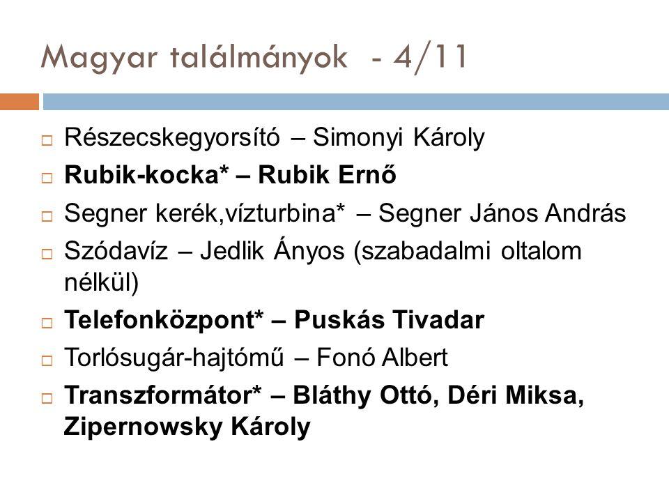 Magyar találmányok - 4/11 Részecskegyorsító – Simonyi Károly