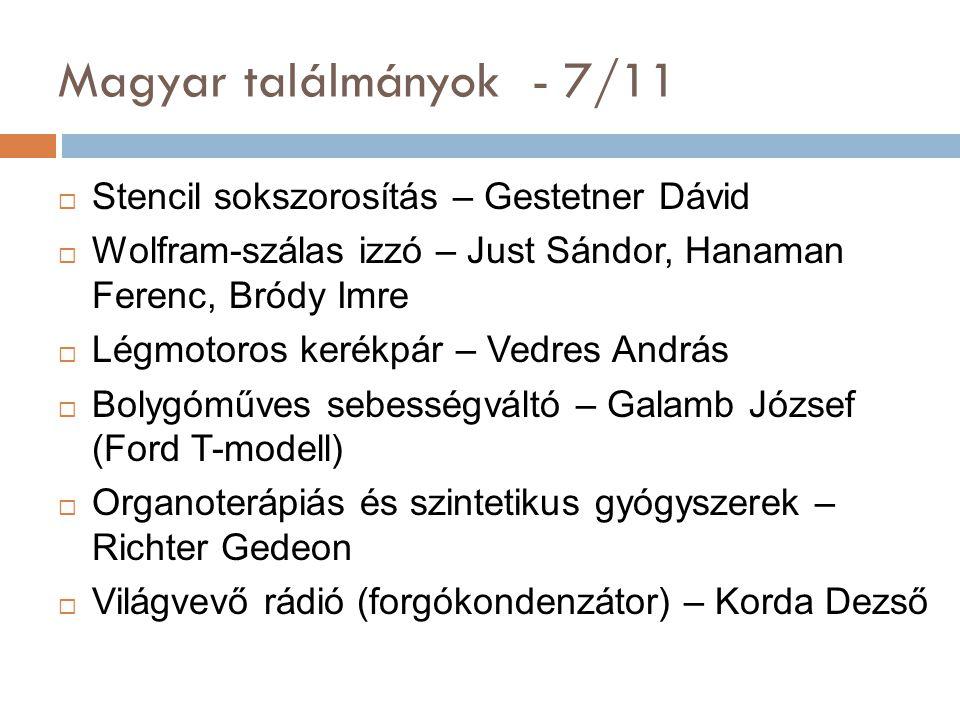 Magyar találmányok - 7/11 Stencil sokszorosítás – Gestetner Dávid