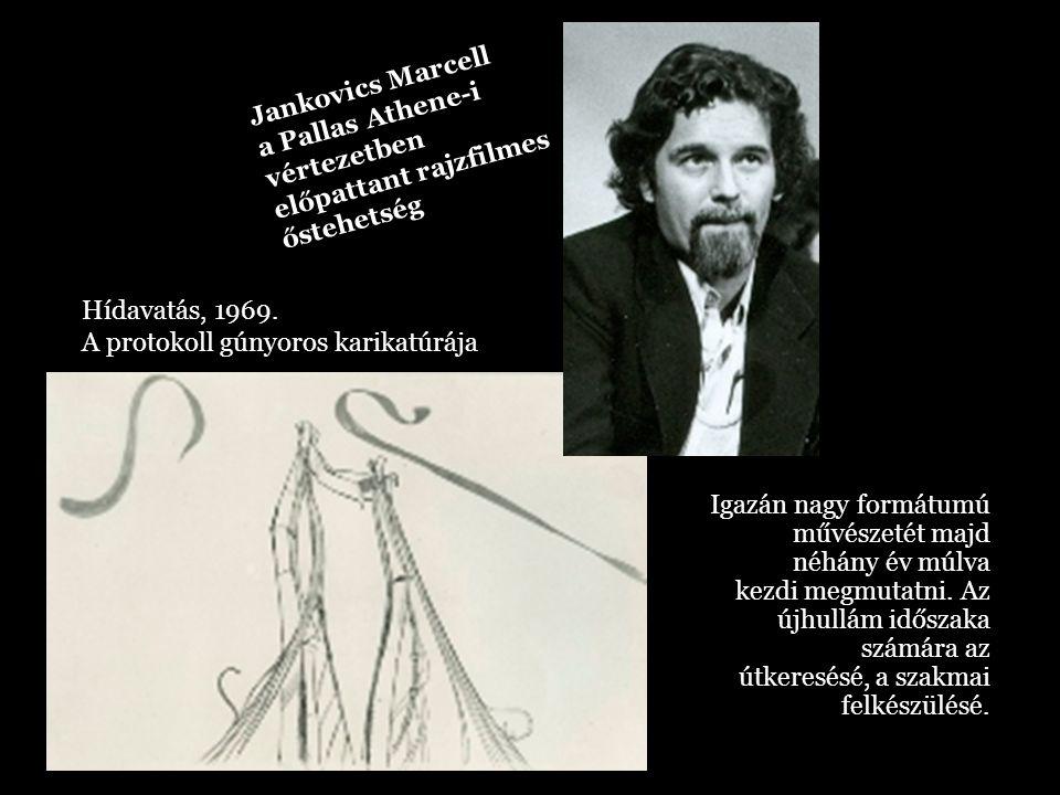 Jankovics Marcell a Pallas Athene-i. vértezetben előpattant rajzfilmes őstehetség. Hídavatás, 1969.