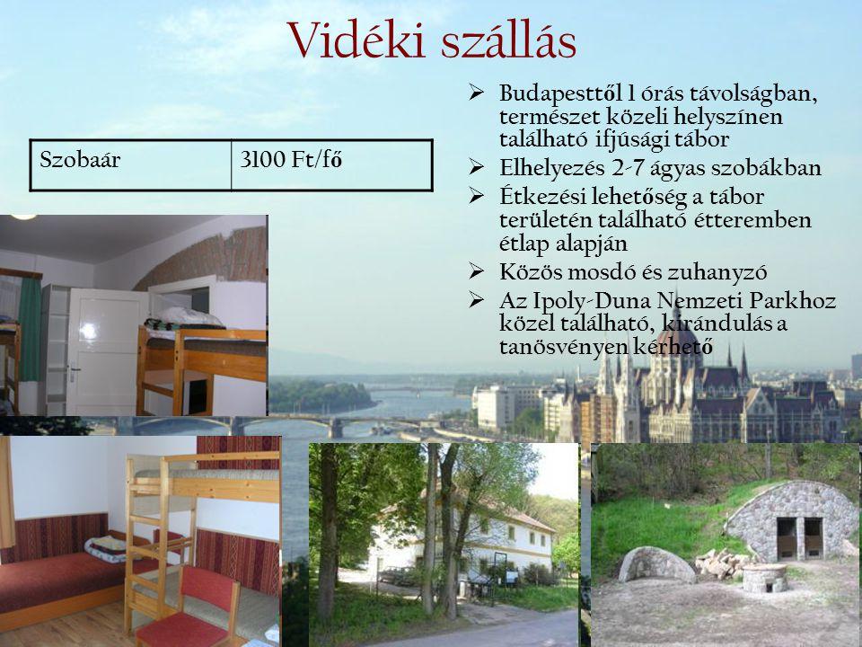 Vidéki szállás Budapesttől 1 órás távolságban, természet közeli helyszínen található ifjúsági tábor.