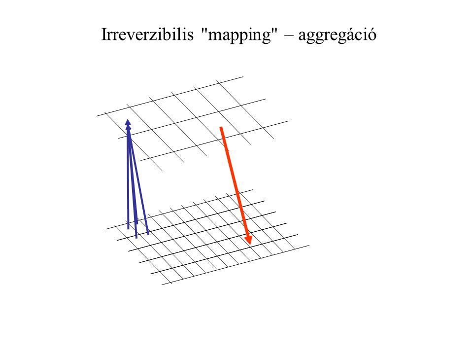 Irreverzibilis mapping – aggregáció