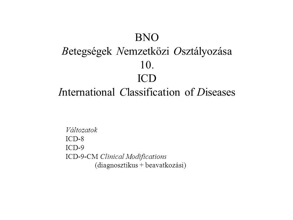 Betegségek Nemzetközi Osztályozása 10. ICD