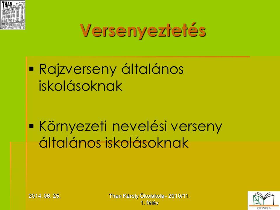 Than Károly Ökoiskola - 2010/11. 1. félév