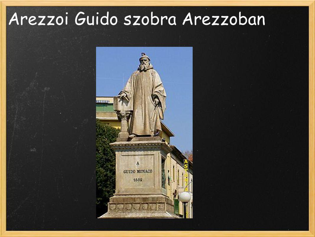 Arezzoi Guido szobra Arezzoban