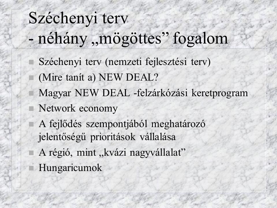 """Széchenyi terv - néhány """"mögöttes fogalom"""
