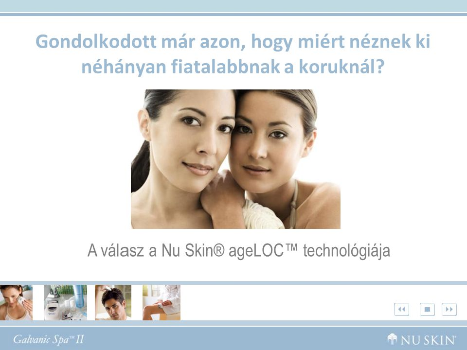 A válasz a Nu Skin® ageLOC™ technológiája