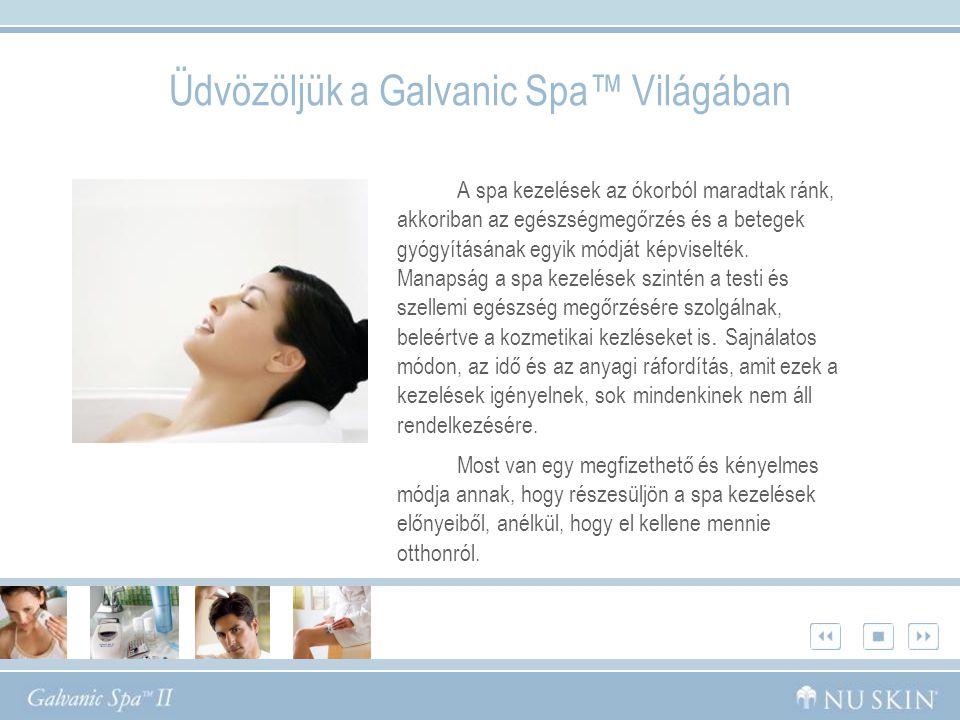 Üdvözöljük a Galvanic Spa™ Világában