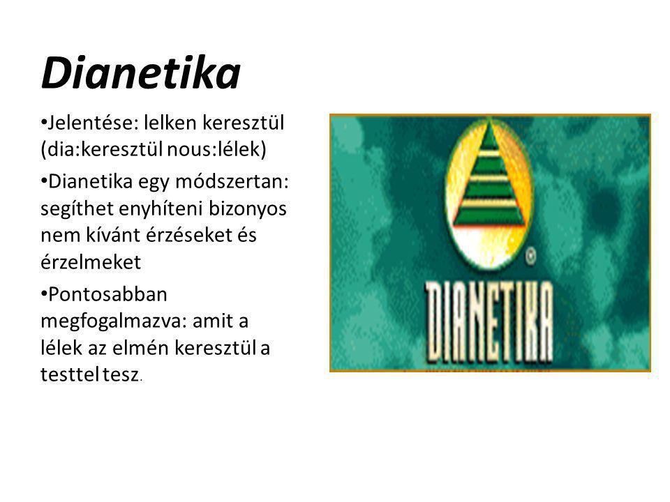 Dianetika Jelentése: lelken keresztül (dia:keresztül nous:lélek)