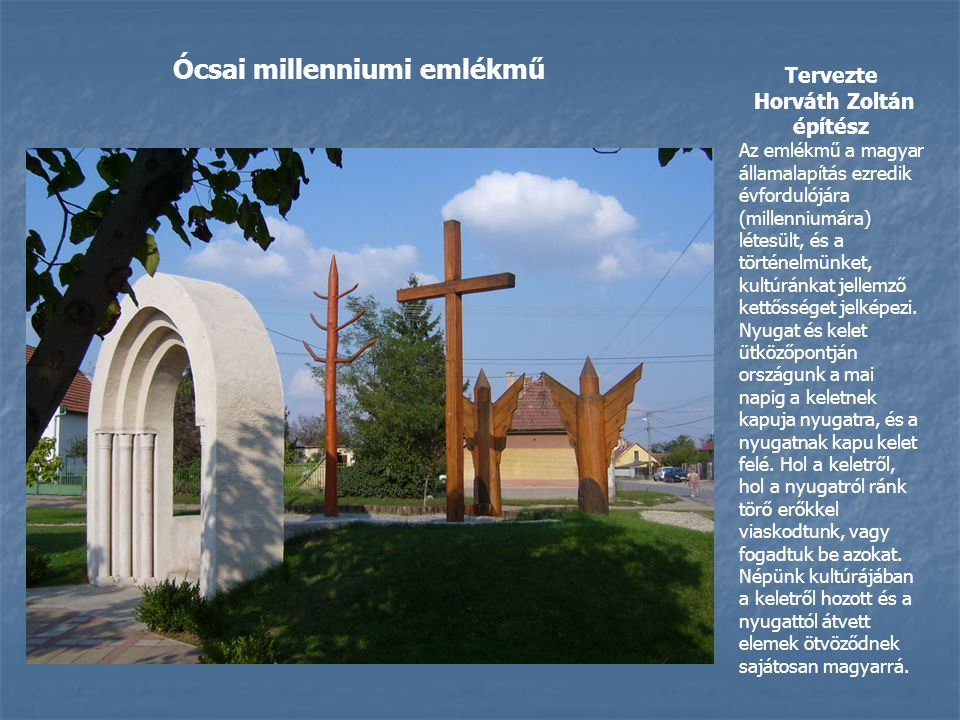 Ócsai millenniumi emlékmű