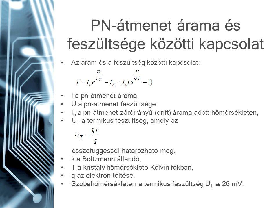 PN-átmenet árama és feszültsége közötti kapcsolat