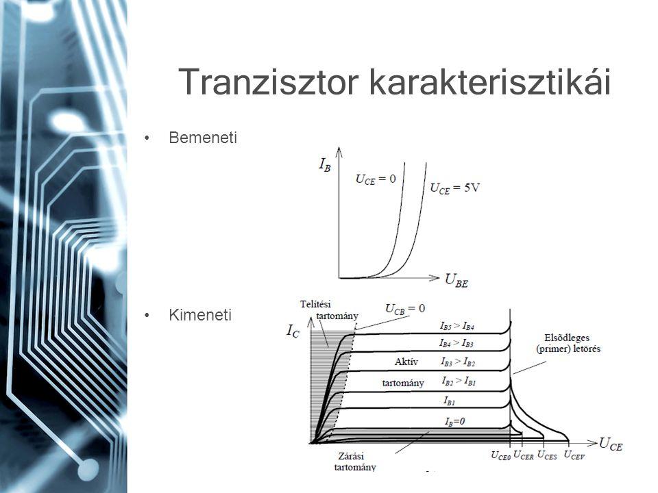Tranzisztor karakterisztikái